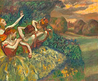 Edgar Degas: Four Dancers