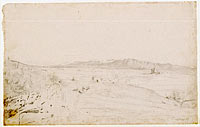 Roman Landscape (probably facing Monte Lepini, beyond the town of Velletri)