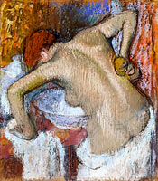 Edgar Degas: Woman Sponging Her Back