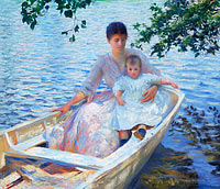 Эдмунд Чарльз Тарбелл: Mother and Child in a Boat