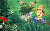 Édouard Manet: Boy in Flowers (Jacques Hoschedé)