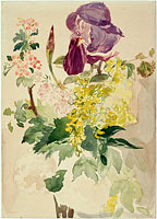 Эдуард Мане: Flower Piece with Iris, Laburnum, and Geranium, 1880