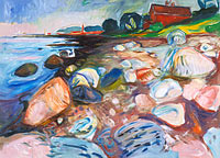 Edvard Munch: Shore with Red House