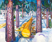 Edvard Munch: The Yellow Log
