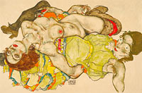 Egon Schiele: Female Lovers, 1915