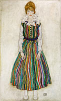Egon Schiele: Portrait of Edith (the artist's wife)