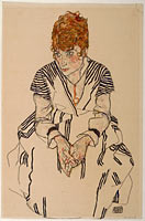 Egon Schiele: Portrait of the Artist's Sister-in-Law, Adele Harms, 1917