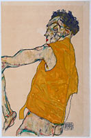 Egon Schiele: Self-Portrait in Yellow Vest, 1914