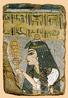 Unknown Painter (Egypt): Wall Painting: Woman Holding a Sistrum