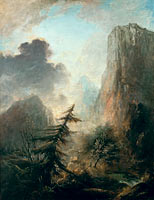 Romantic Landscape with Spruce