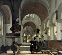 Emanuel de Witte: Interior of a Church