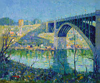 Ernest Lawson: Spring Night, Harlem River