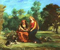 Eugène Delacroix: The Education of the Virgin