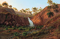 Eugene von Guérard: Waterfall on the Clyde River, Tasmania