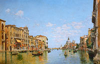 Federico del Campo: View of the Grand Canal of Venice
