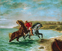 Horses coming out of the sea