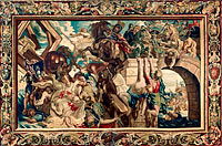 Peter Paul Rubens: Tapestry showing the Triumph of Constantine over Maxentius at the Battle of the Milvian Bridge