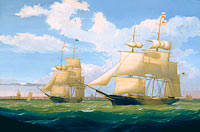 "Fitz Henry Lane: The Ships ""Winged Arrow"" and ""Southern Cross"" in Boston Harbor"