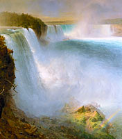 Frederic Edwin Church: Niagara Falls, from the American Side (1)