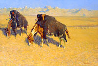 Frederic Remington: Indians Simulating Buffalo