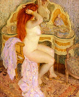 Frederick Carl Frieseke: Nude Seated at Her Dressing Table