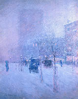 Frederick Childe Hassam: Late Afternoon, New York, Winter