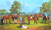 Фредерик Вудхаус: Group in the Dowling Forest Racecourse enclosure, Ballarat, 1863