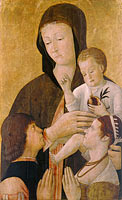 Джентиле Беллини: Madonna with child and two donors
