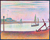 Georges Seurat: The Channel at Gravelines, Evening