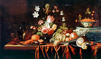 Jan Pauwel Gillemans the Elder: Still-life with Fruit, Flowers and Crayfish