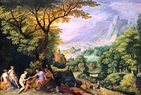Gilles van Coninxloo (II): Landscape with the Judgement of Paris