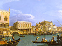 Canaletto: View of the Riva degli Schiavoni, Venice