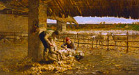 Giovanni Segantini: The Sheepshearing
