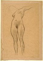 "Floating Woman with Outstretched Arm (Study for ""Medicine""), 1900-1901"