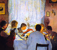 Густав Вентцель: Breakfast II. The Artist's Family