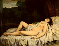 Gustave Courbet: Sleeping Nude