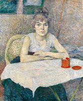 Young woman at a table, 'Poudre de riz'