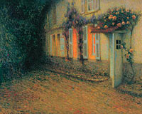 Henri Le Sidaner: Roses and Wisterias on the House