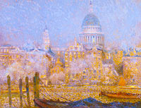Henri Le Sidaner: St. Paul's from the River: Morning Sun in Winter