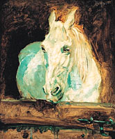 "Henri de Toulouse-Lautrec: The White Horse ""Gazelle"", 1881"