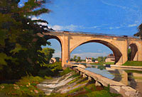 Анри-Жозеф Арпиньи: The Railroad Bridge at Briare
