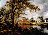 Wooded landscape with a Water-mill