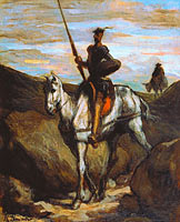 Honoré Daumier: Don Quixote in the Mountains