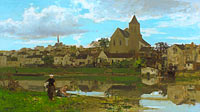 Jacob Maris: View of Montigny-sur-Loing