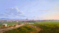 Якоб Альт: View of Vienna from the Spinner on the Cross, 1817