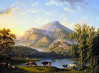 Якоб Филипп Хаккерт: Veduta d'Itri (Landscape with a View of Itri)