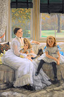 Portrait of Mrs Catherine Smith Gill and Two of her Children