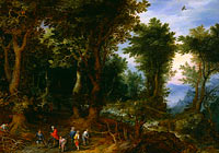 Jan Brueghel the Elder: Wooded Landscape with Abraham and Isaac