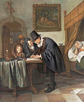 Jan Havickszoon Steen: The Doctor's Visit