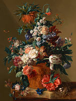 Jan van Huysum: Vase of Flowers
